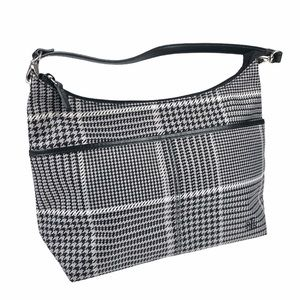 Ralph Lauren Equestrian Hounds tooth Hobo Bag